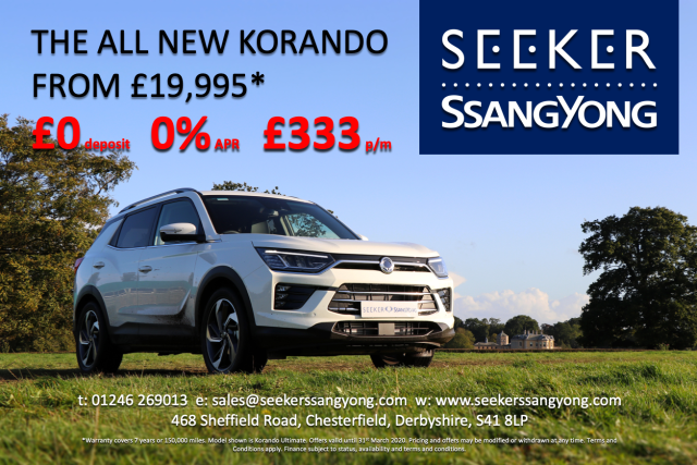 SsangYong Korando Brand new  1.5 ELX 5 DOOR No deposit and 5 years 0 PERCENT. SUV Petrol Grey at Seeker SsangYong Chesterfield