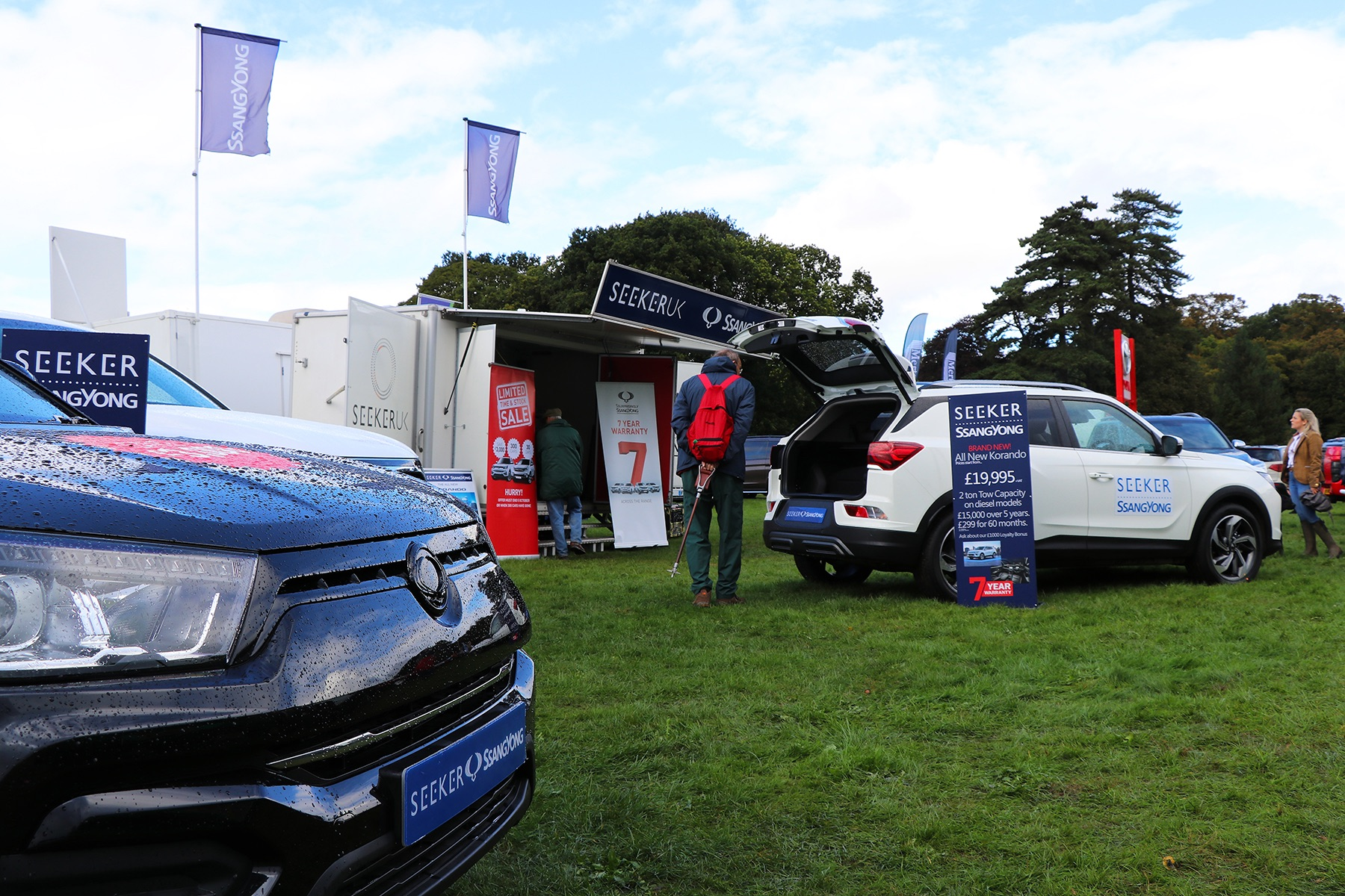 Seeker SsangYong at the Southwell Ploughing Match 2019 held at Thoresby Park