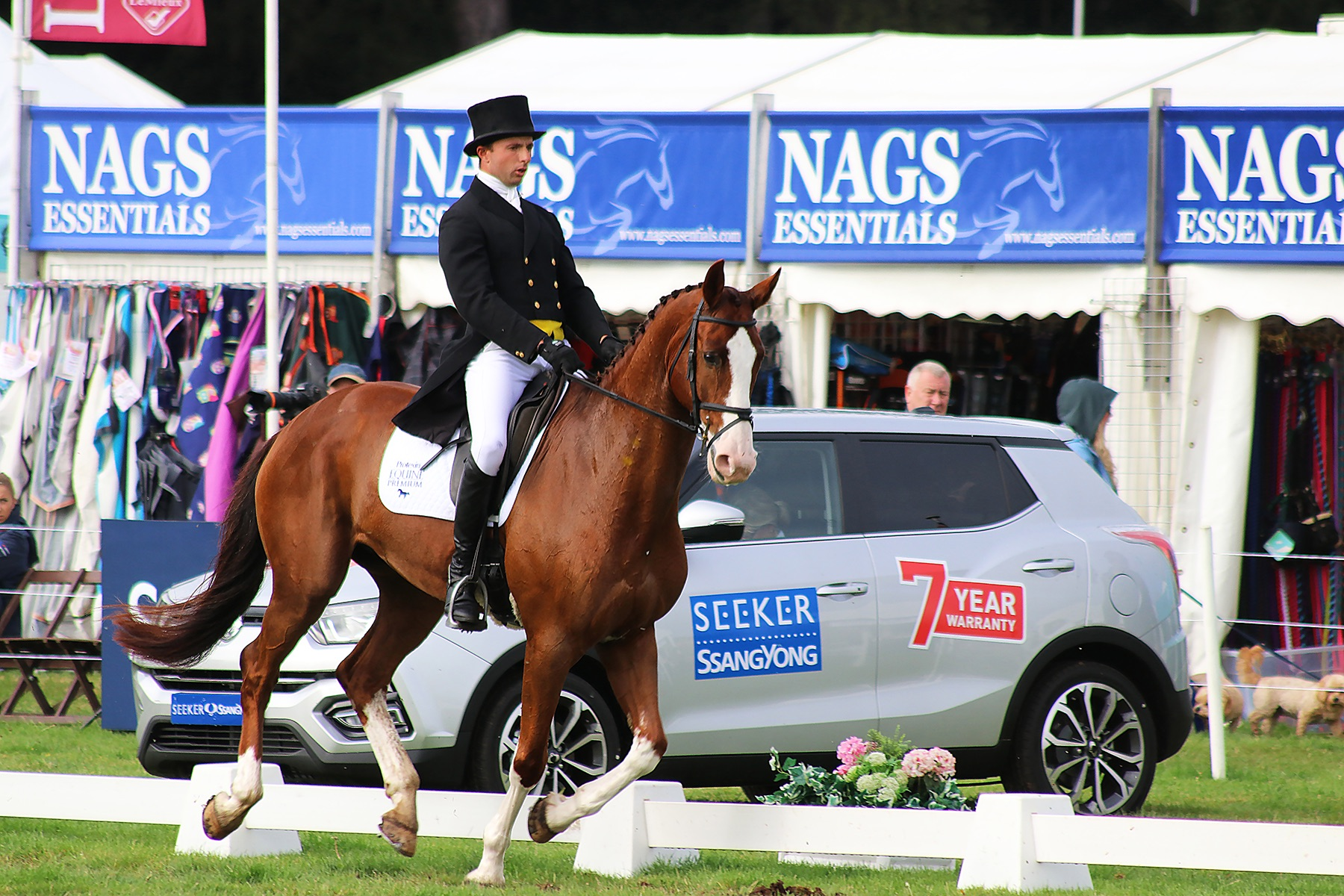 Seeker SsangYong sponsors of the Osberton International Horse Trials 2019 congratulates winning eventer Piggy French